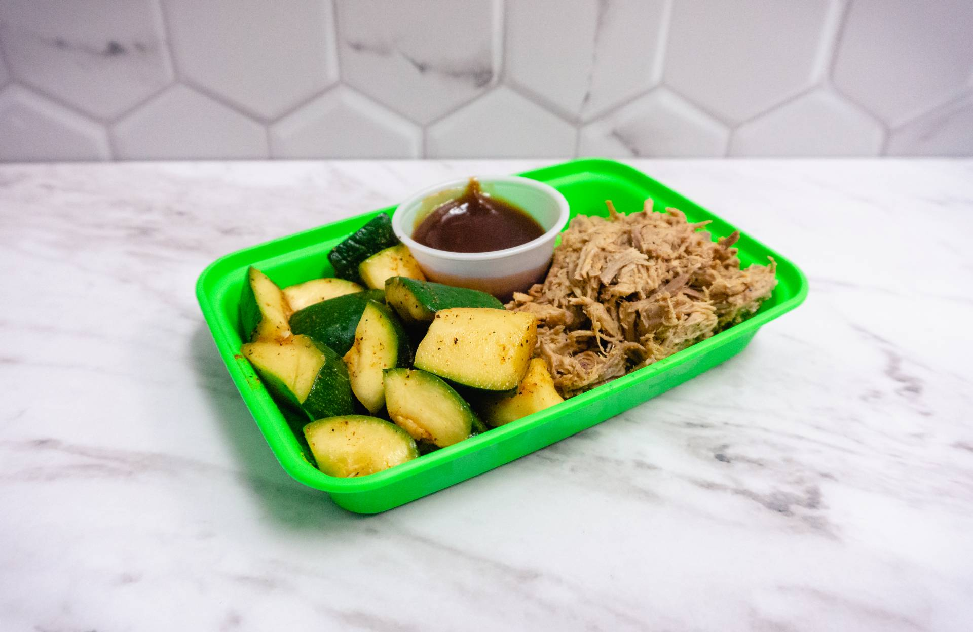 BBQ Pulled Pork with Squash